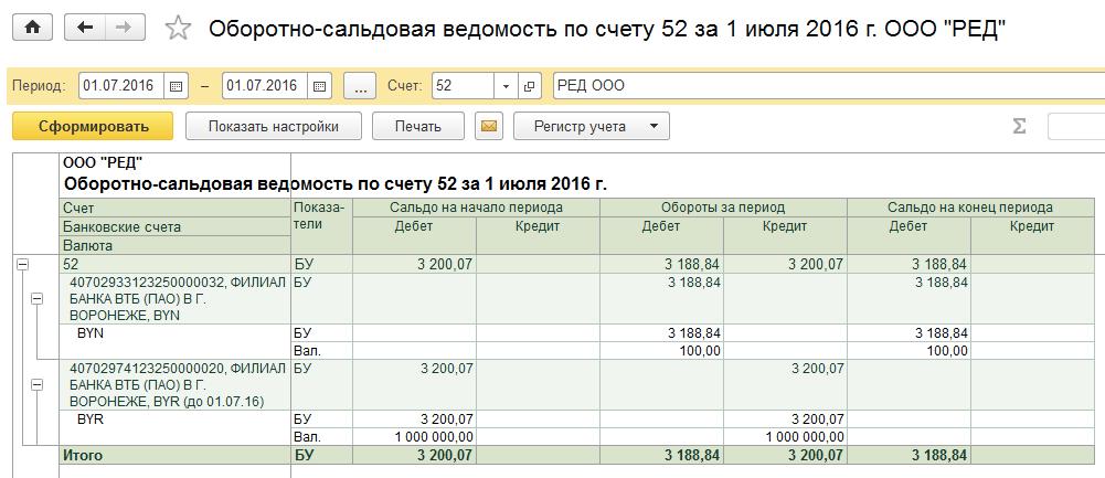 расчетный счет после деноминации
